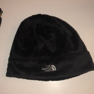 North Face Black Fuzzy Hat